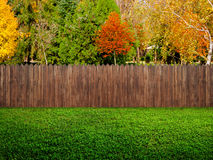 fence at backyard Royalty Free Stock Image