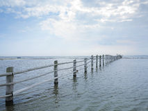 Fence in baltic sea Stock Image