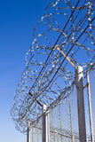Fence with  barbed wire. Fence with a barbed wire Royalty Free Stock Photo