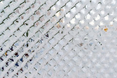 Fence Barbed Wire barbwire in which  fallen snow Royalty Free Stock Photos