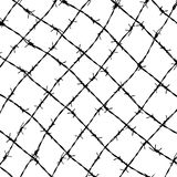 Fence from barbed wires Royalty Free Stock Photo