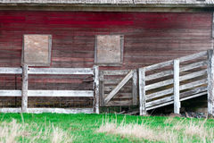 Fence by the barn. Stock Image