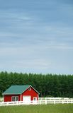 Fence and Barn. Farmland in rural Washington State Stock Photo