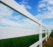 Fence and Barn Royalty Free Stock Images