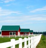 Fence and Barn Stock Photos