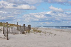 Fence at Beach. Beach fence at Seaside Island state park Royalty Free Stock Photo