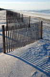 Fence on beach Stock Image