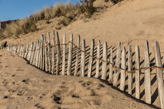 Fence on the beach Royalty Free Stock Photos
