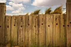 Fence and the beach Royalty Free Stock Photos