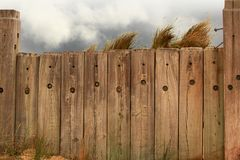 Fence and the beach Royalty Free Stock Photography