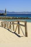 Fence in the beach of tarifa, Cádiz Stock Photo
