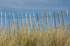 Fence on a beach Stock Image