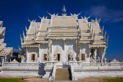 Fence of beautiful white temple. Stock Images