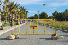 Fence blocking the way Royalty Free Stock Image