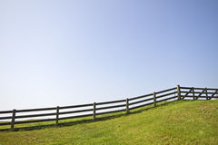 Fence and a blue sky Stock Image