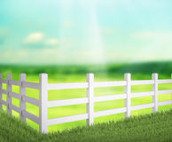 Fence  And Blur Nature of Background Royalty Free Stock Images