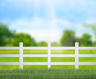 Fence  And Blur Nature of Background Royalty Free Stock Photos