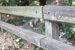 Fence with blurred background Royalty Free Stock Photo