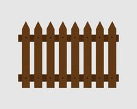 Fence boards nailed to longitudinal bars. The fence of the boards nailed to the longitudinal bars royalty free illustration