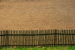 Fence. Border fence separating private land royalty free stock photography