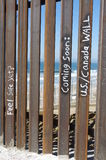 Fence at the border of Tijuana and San Diego Stock Photo