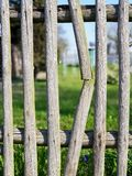fence with broken wood royalty free stock photo