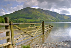 Fence on Buttermere Stock Photo