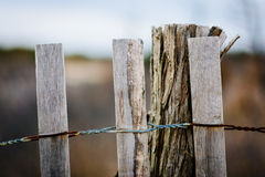 Fence at Cape Henlopen State Park, in Rehoboth Beach, Delaware. Stock Images