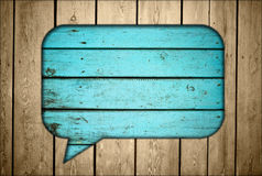 Fence with chat box. Wooden fence with chat box Stock Photography