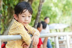 Fence for children detail boy Royalty Free Stock Photos