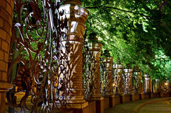 Fence at Church of the Saviour on Spilled Blood (Spas na Krovi), Stock Image