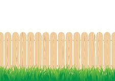 Fence_circle. The wood fence and the green grass Royalty Free Stock Images