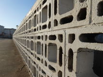 Fence of concrete blocks Stock Photos
