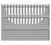 Fence concrete. Illustration of a concrete fence on white background, product image to be included in the catalog Stock Photo