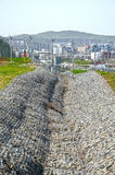 The fence on the construction of the bridge Kerch Royalty Free Stock Images