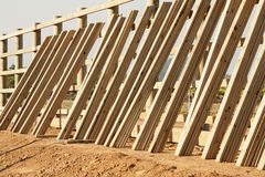 Fence construction 1695 Stock Image