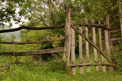 Fence in the countryside Royalty Free Stock Photo