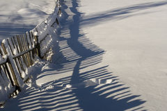 Fence Covered By Snow Stock Photography