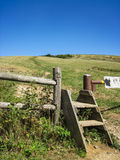 Fence Crossing along the AT at Max Patch Royalty Free Stock Image
