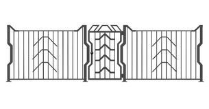 Fence 3D Royalty Free Stock Photos