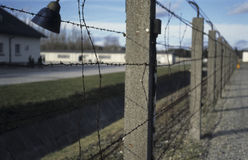Fence at Dachau concentration camp Stock Image