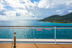 Fence on a deck of cruise ship. Deck fence on a cruise ship Royalty Free Stock Photography