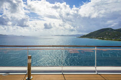 Fence on a deck of cruise ship. Deck fence on a cruise ship Royalty Free Stock Photo
