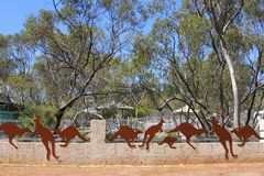 Artistic jumping kangaroos design, Australia Royalty Free Stock Photography