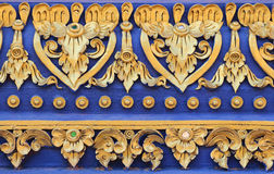 Fence decoration thai art Royalty Free Stock Photography