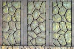 Fence of decorative stone. Horizontal frame Stock Photo