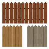 Fence with different wooden texture pattern Stock Image