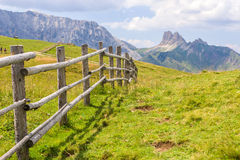 Fence. In the Dolomites, Italy stock photography