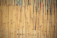Fence from a dry bamboo with retro effect Stock Photography