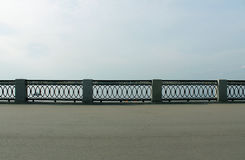 Fence of the embankment Stock Photography